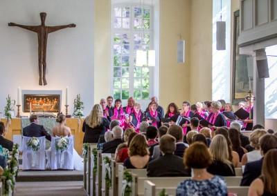 Chorgesang in der Kirche