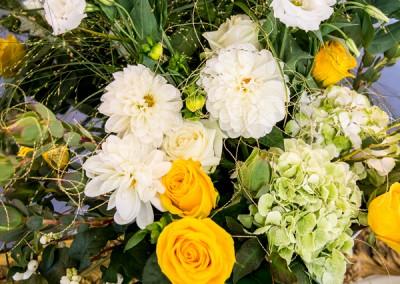 Blumenschmuck in der Eingangshalle