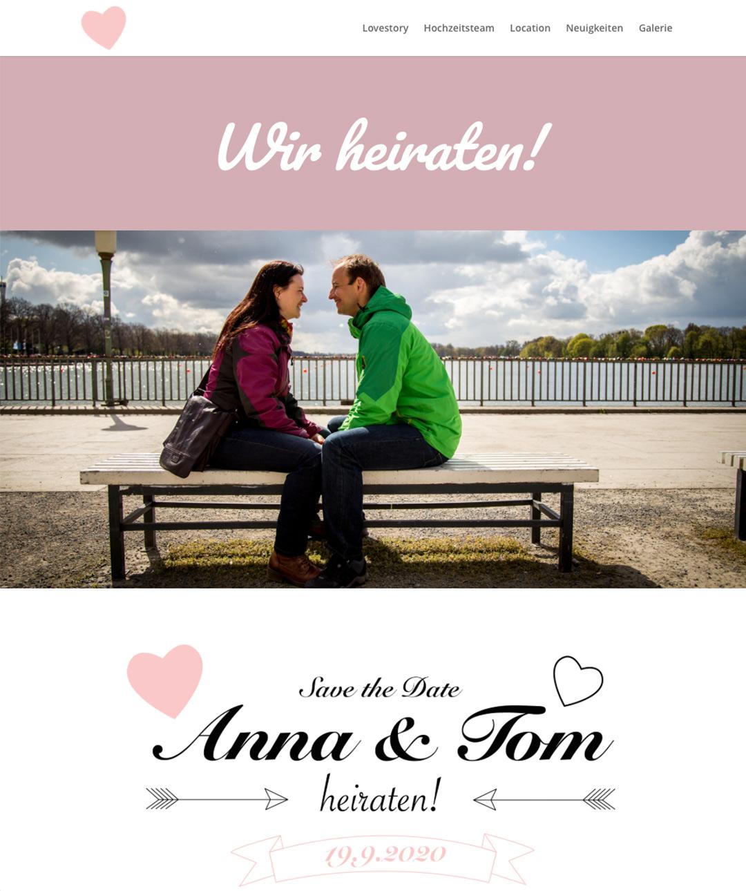 Großartig: eine eigene Wedding-Website.