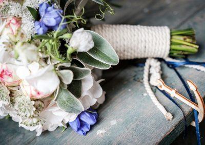 Brautstrauß mit Anker